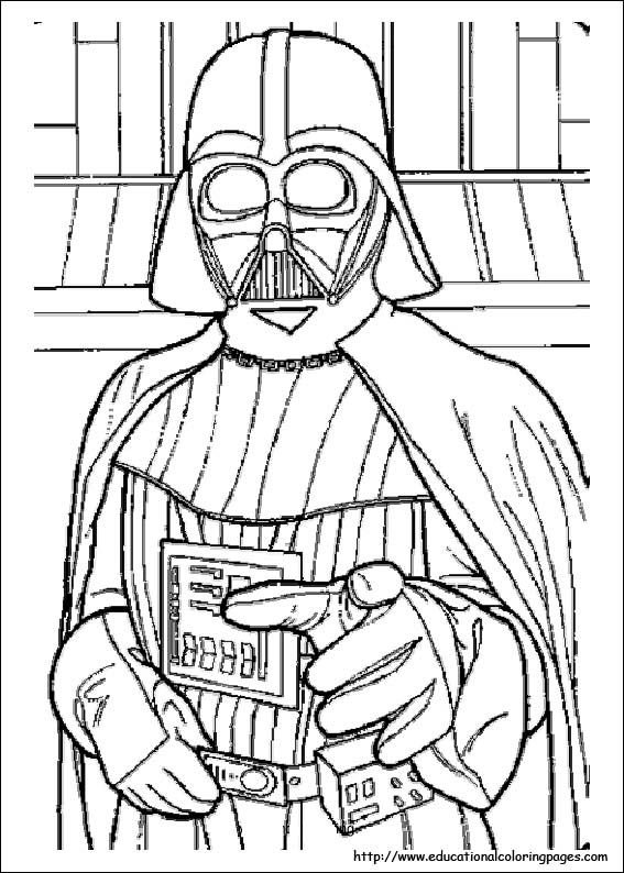 Get free cartoon activity pages like Star Wars coloring