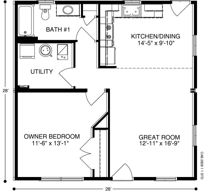 Cabin Plan A Of Ameri Log Collection All American Homes Cabin Plans Floor Plans Cabins And Cottages