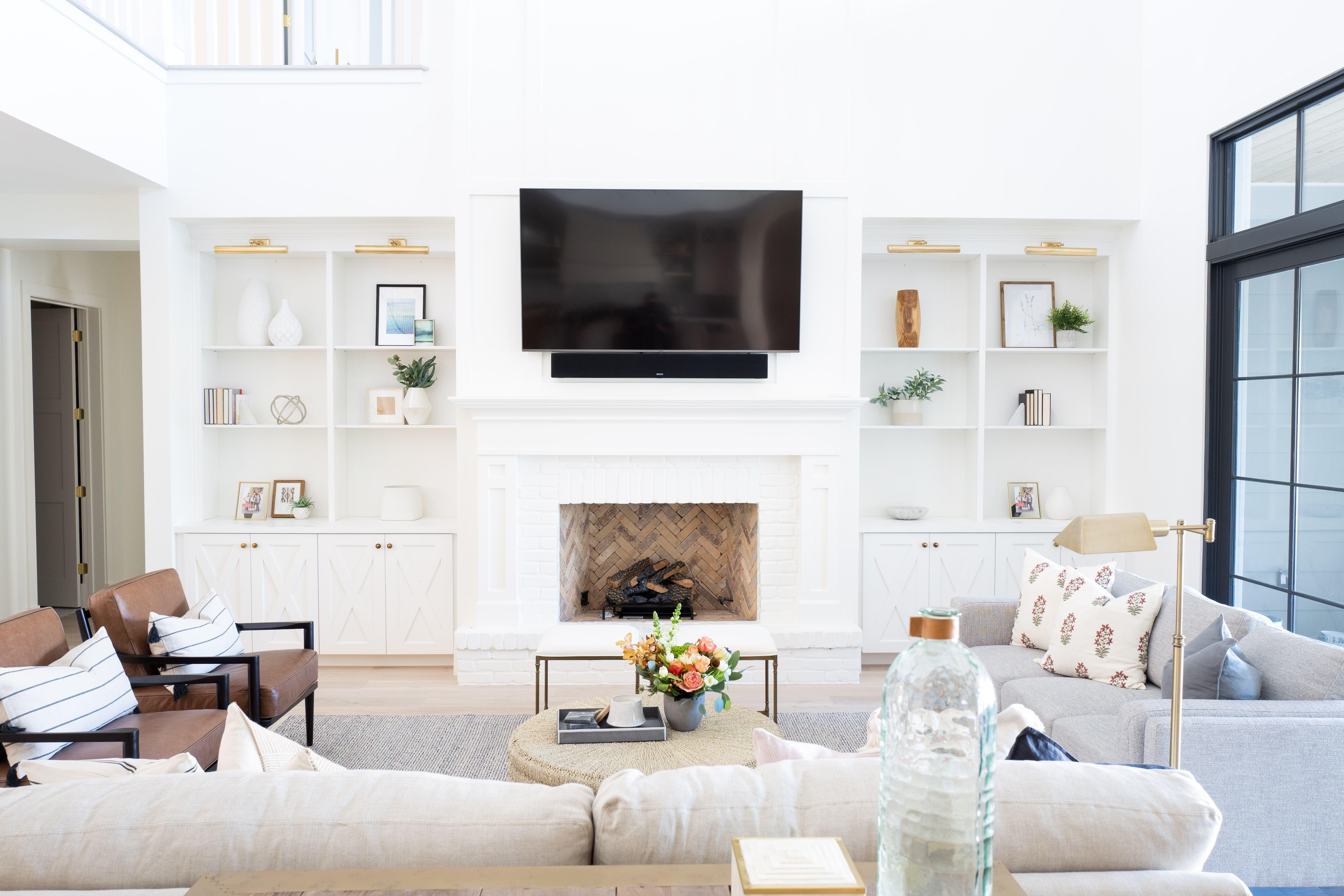 E Interiors Dc Ranch Project Fireplace Built Ins In 2020 Home Fireplace Built Ins Home Living Room