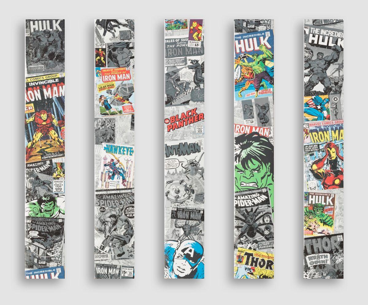 Marvel Designer Flooring Retro Comic Book Cover Design Multi