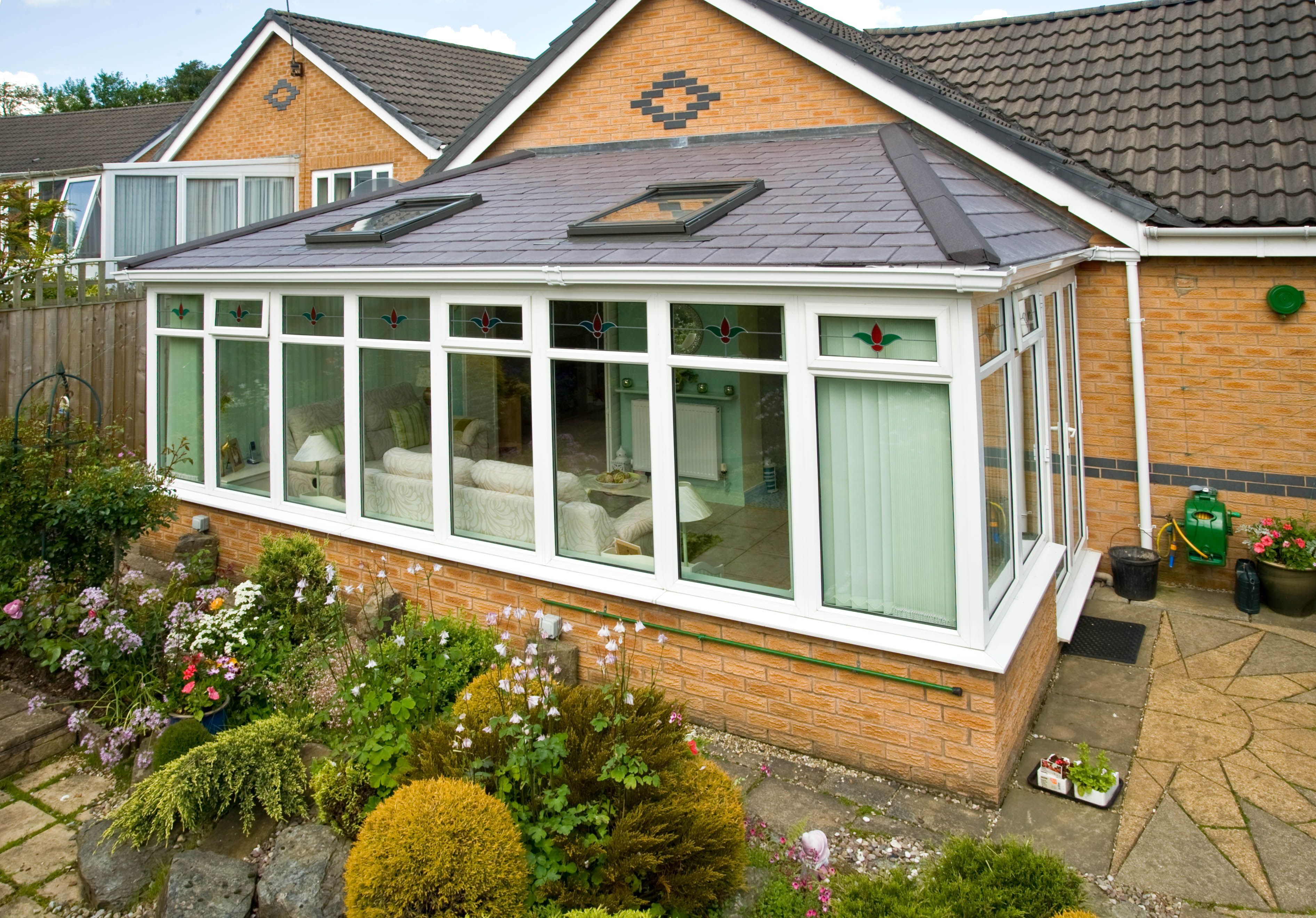 Guardian tiled conservatory roof conversion system for Lean to extension ideas