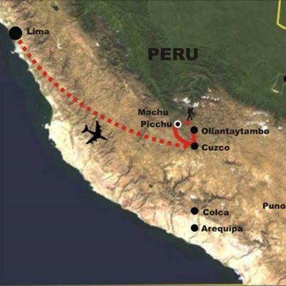 Cuando viajes a Perú, usa aerolineas locales para conocerlo, así aprovecharás al máximo tu tiempo. Solo un ejemplo para que te des una idea: De Lima a Cusco hay 1.165 km o 724 millas, necesitarás 20 horas en omnibus o 1 hora en avión…
