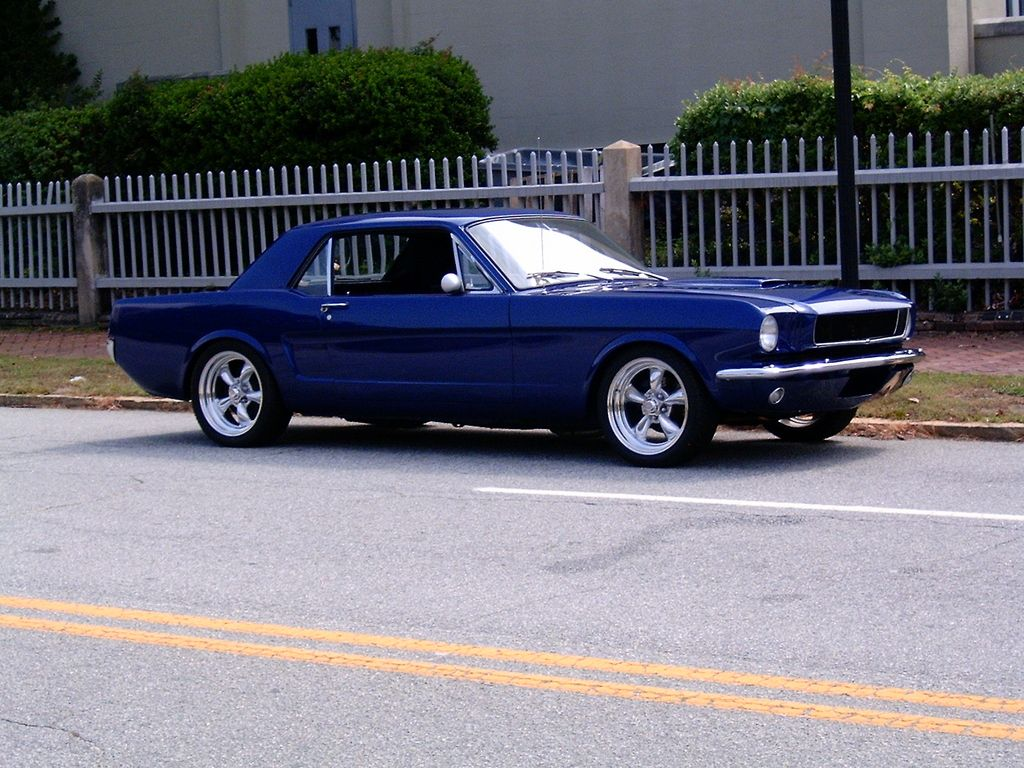 Blue mustang 1965 mustang ford mustang 17 inch rims american classic cars