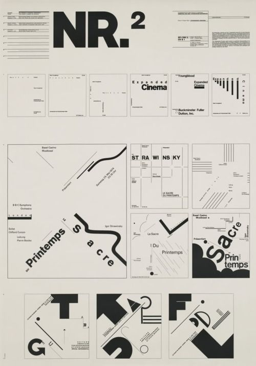 """Typographic Process, Nr 2. From Simple to Complex by Wolfgang Weingart, 34 1/2 x 24 1/4"""" (1971)"""
