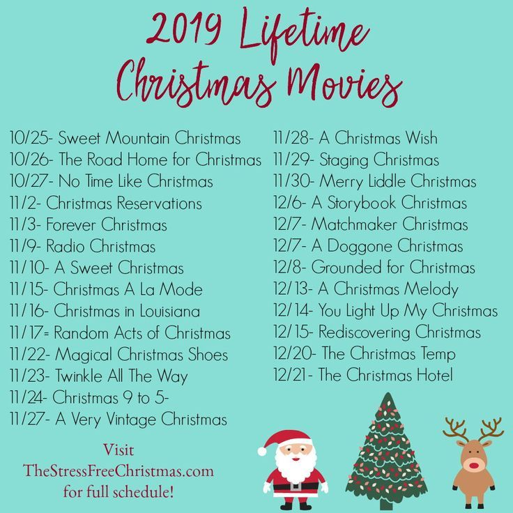 Love Christmas movies? Check out the schedule for It's a Wonderful Lifetime. #christmasmovies #christmas