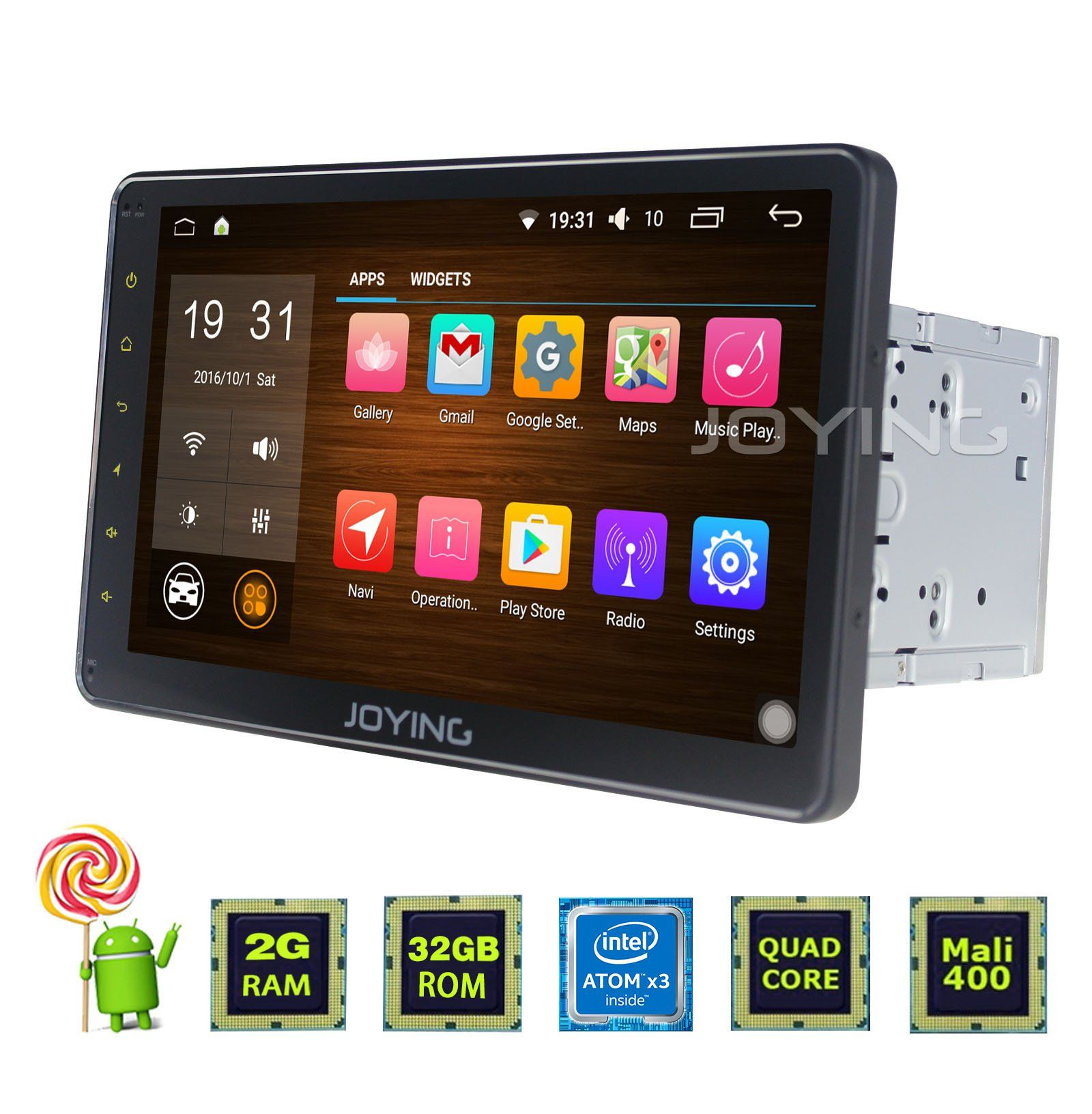 Joying 10 1 Inch Car Tablet Radio Pc Gps Head Unit Double Din Newest Android Car Stereo 2gb Ram Intel 5 1 L Android Car Stereo Car Stereo Gps Navigation System