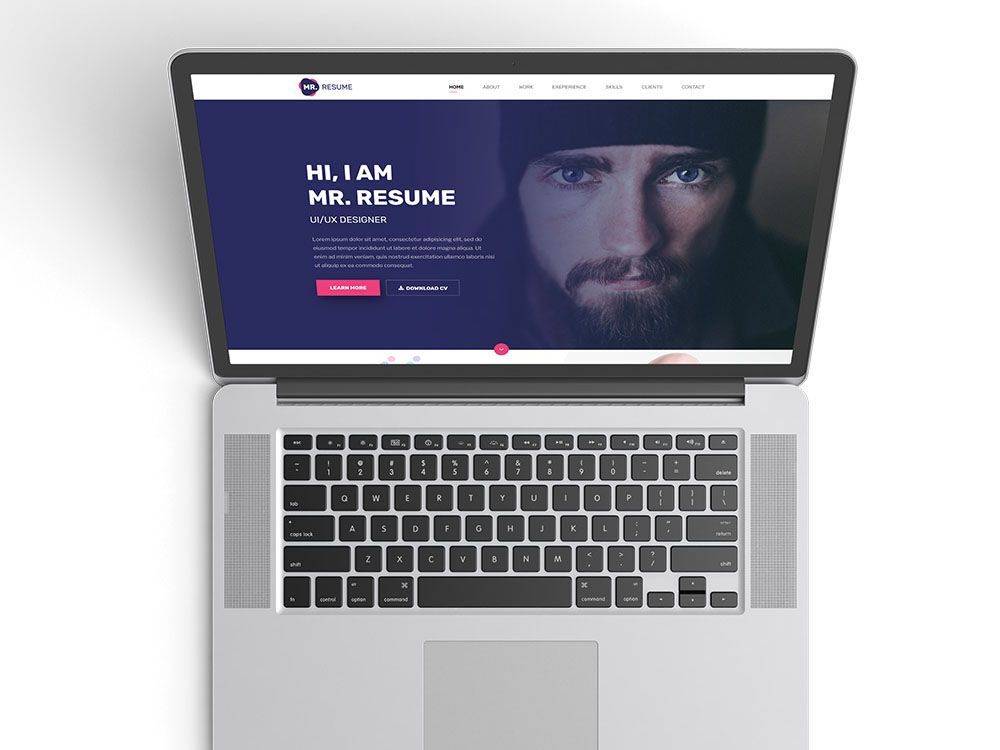 Free Clean Resume Website Template Free Resume Templates Pinterest - resume site template