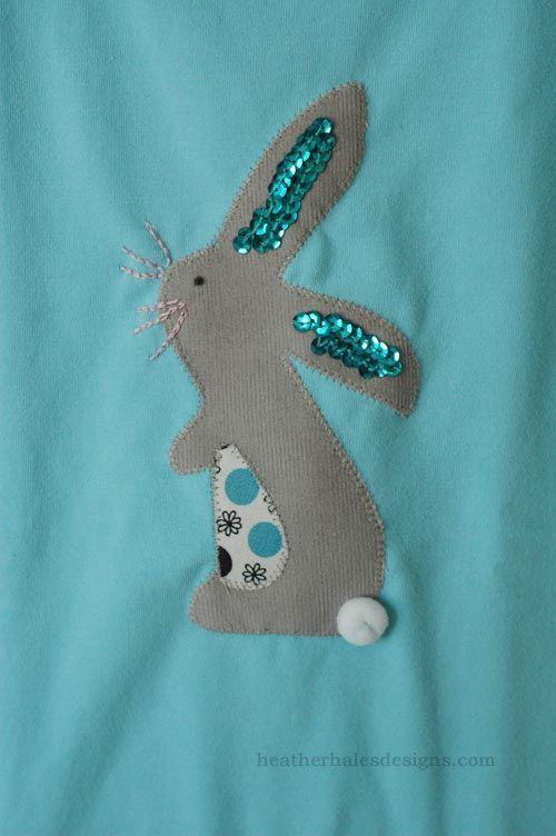 heatherhalesdesigns.com » Blog Archive » Sequin-eared Rabbit Applique