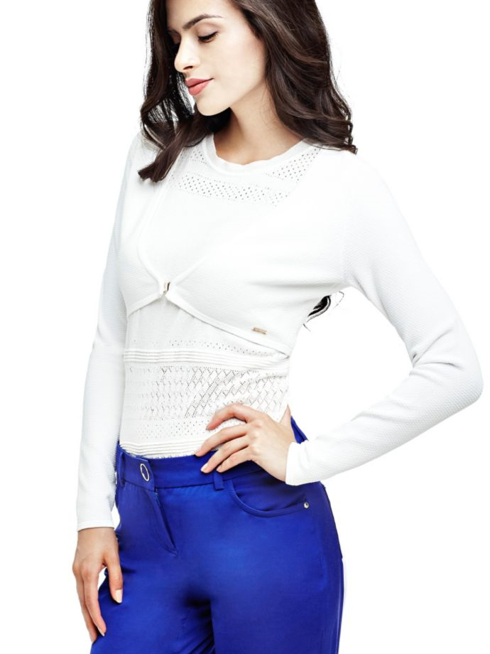 EUR139.00$  Buy now - http://vimhq.justgood.pw/vig/item.php?t=4b9a2z52952 - MARCIANO CORSET DETAIL CARDIGAN
