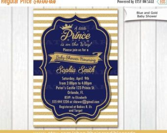 Prince baby shower invitation royal blue gold baby shower prince baby shower invitation royal blue gold baby by thepartytown filmwisefo