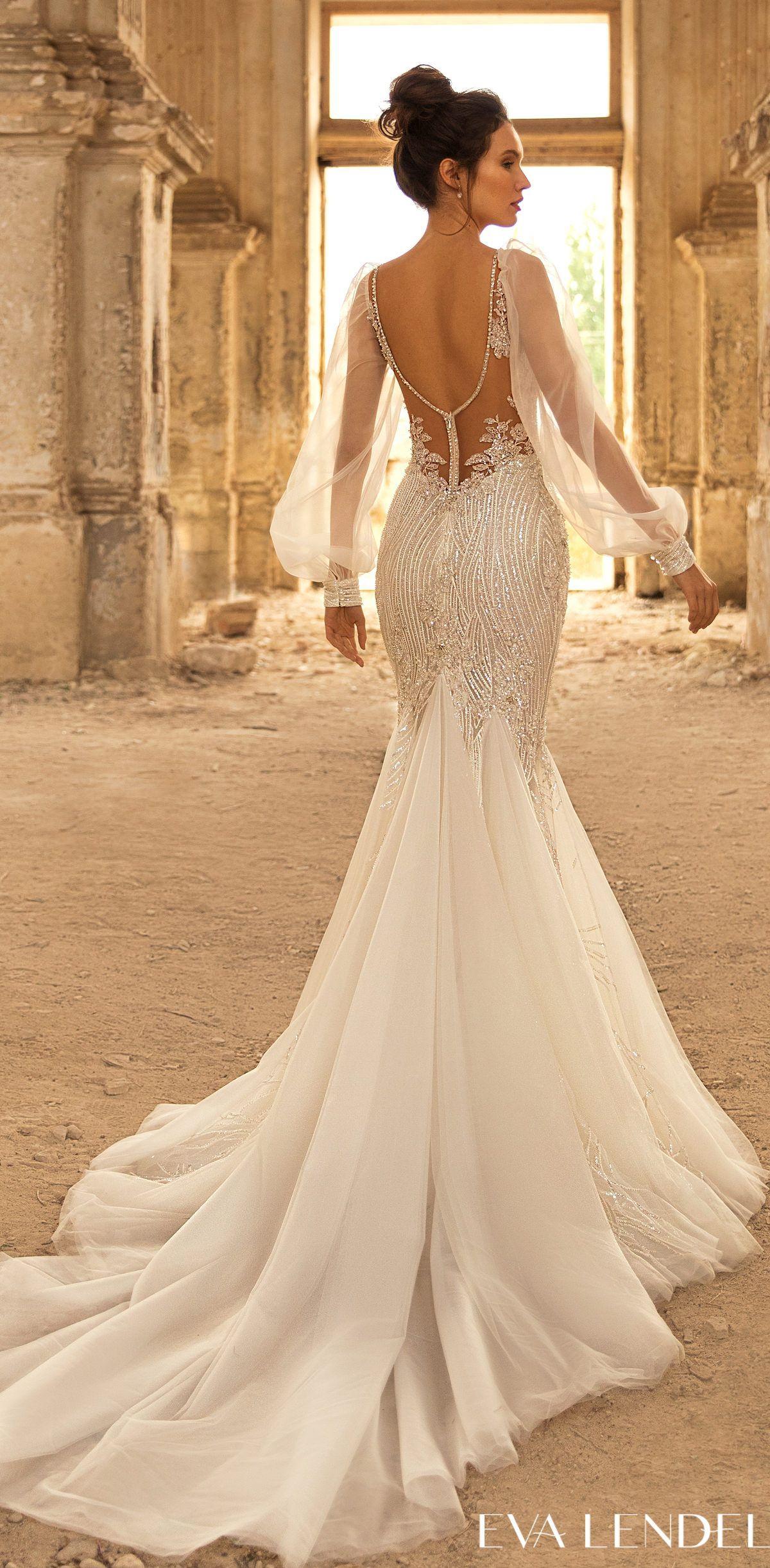 Eva Lendel Wedding Dresses 2021 And 2022 Belle The Magazine In 2021 Dresses Fitted Wedding Dress Mermaid Wedding Dress [ 2443 x 1200 Pixel ]
