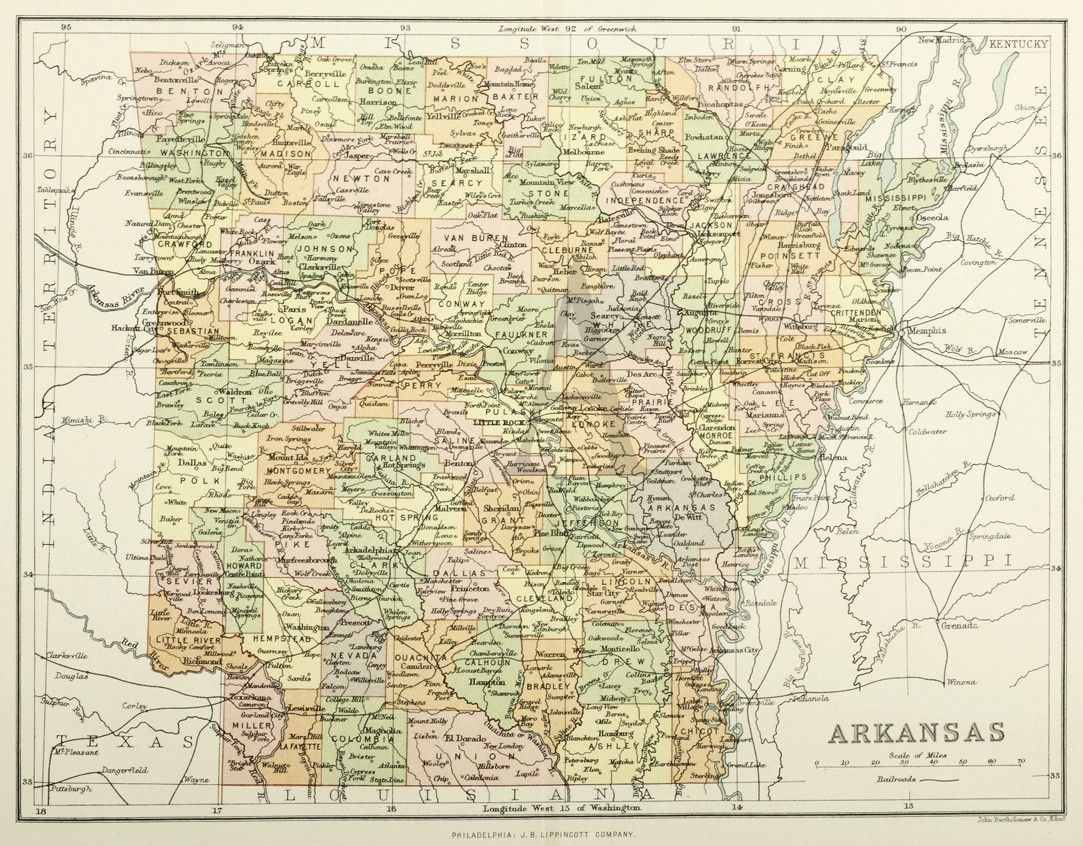Arkansas   Maps of United States & North America   United ...