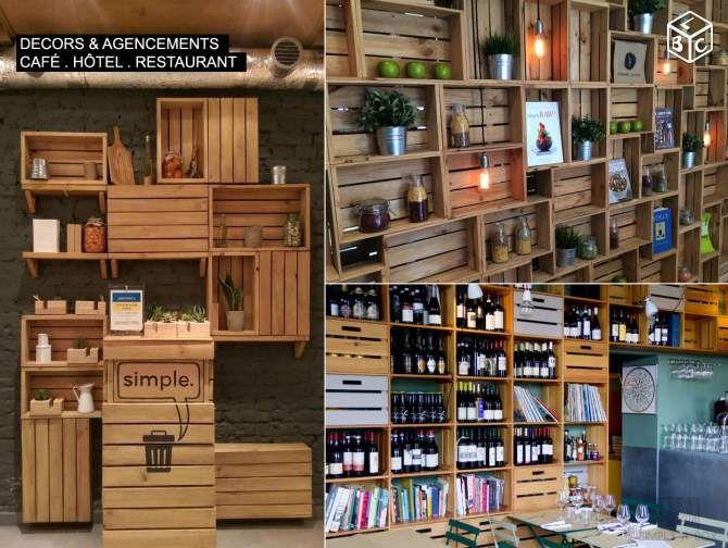 caisse en bois agencement caf h tel restaurant. Black Bedroom Furniture Sets. Home Design Ideas