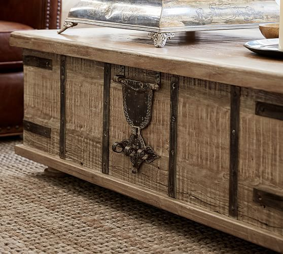 Kaplan Lift Trunk Pottery Barn With Images Coffee Table