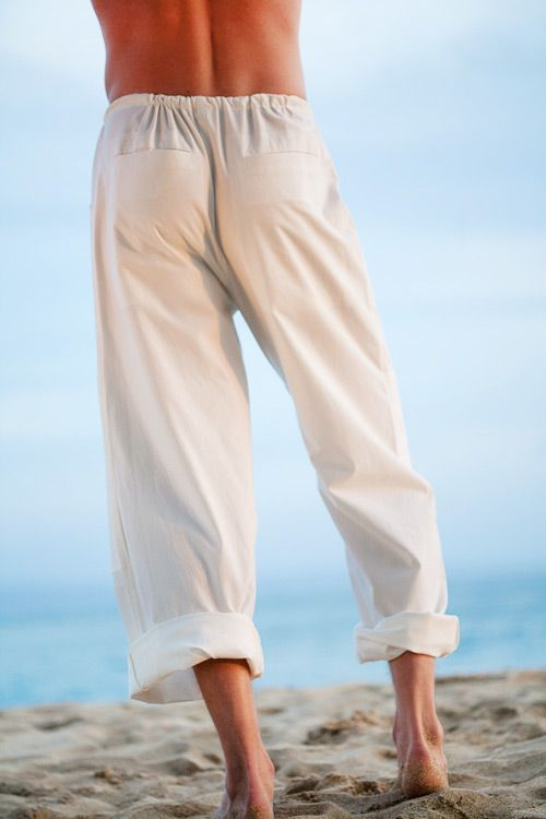 25440254f7ce4 Kundalini Yoga Pants for Men, Loose-Fit, 100% Cotton, White - Island  Importer
