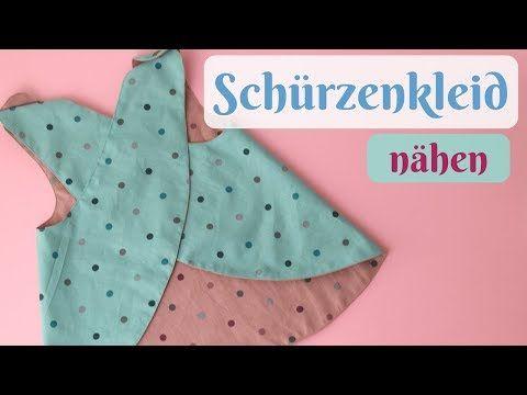 Schürzenkleid / Wickelkleid nähen mit kostenlosem Schnittmuster - Nähanleitung für Anfänger