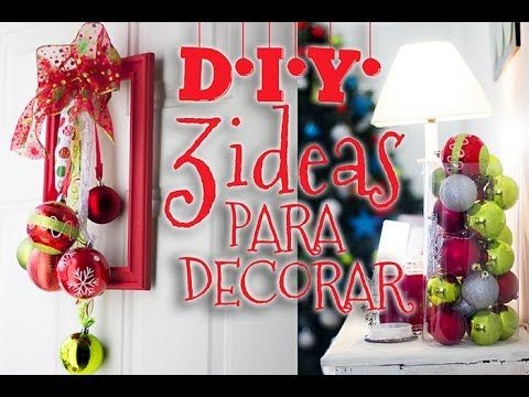 Ideas para decoracion navide a manualidades faciles y for Decoracion de navidad manualidades faciles