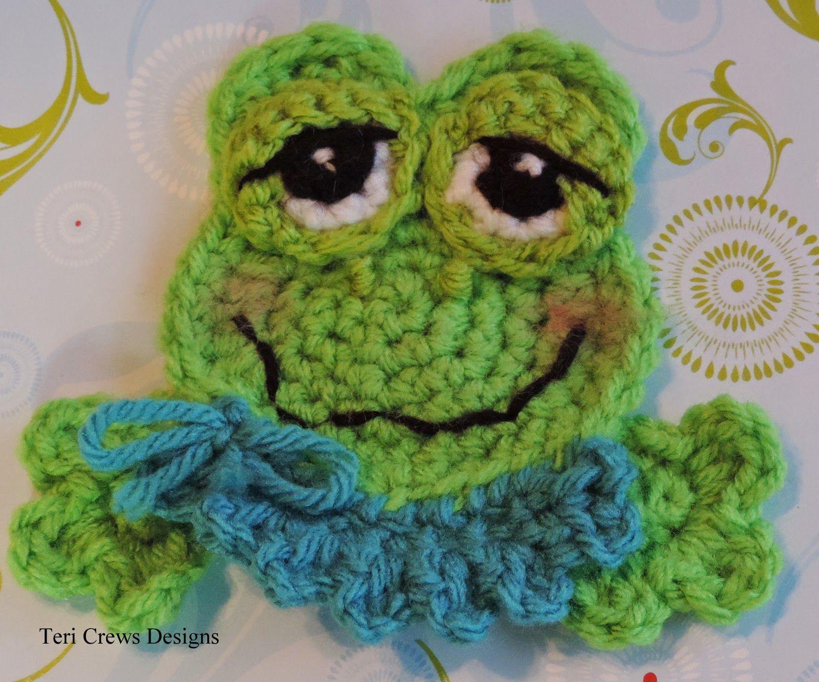 New Cute Frog Applique Crochet Pattern | Cute Crochet and Knitting ...