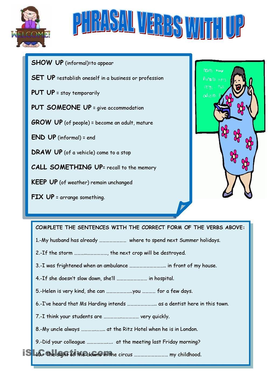 Phrasal Verbs With Up Verb English Language Teaching English Language Learning [ 1440 x 1018 Pixel ]