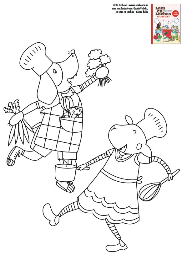 Kleurplaat Bij Het Leesboekje Lam En Loebas Kleine Koks