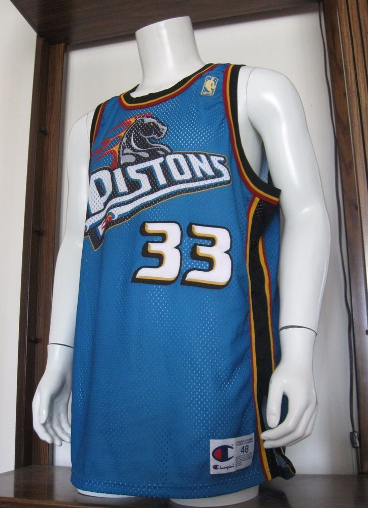 new style 4a900 3cd97 grant hill pistons champion jersey