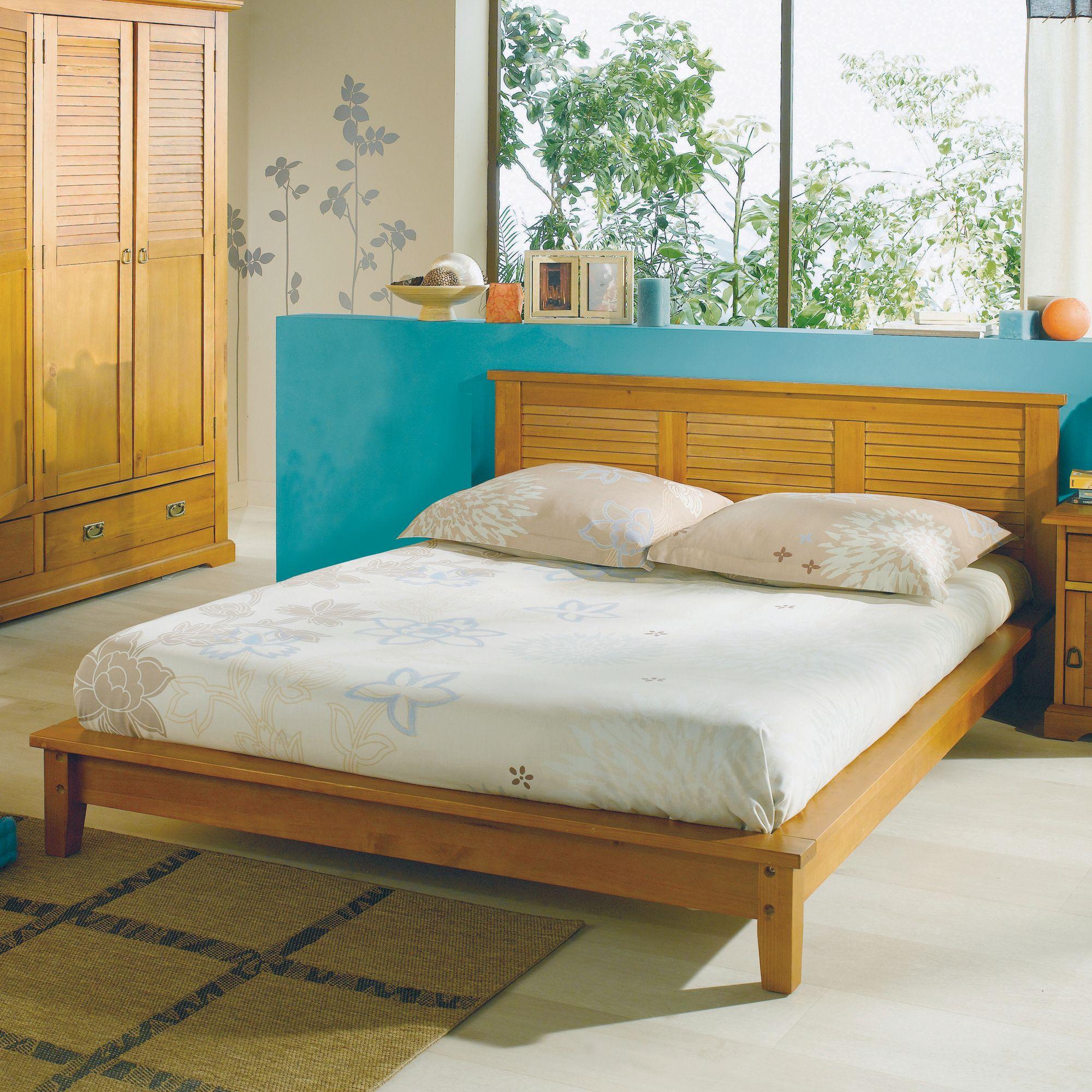 Lit La Maison De Valerie Lit 140 X 190 Cm Colonial Miel
