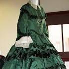 Victorian Dress in Deep Green