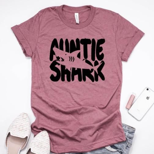 27b1ebb99316 Shark Family Shirts, aunt shark, uncle shark, auntie shirt, uncle shirt,  pregnancy announcement, cute aunt tee, auntie tee, aunt tshirt, aunt tee,  ...