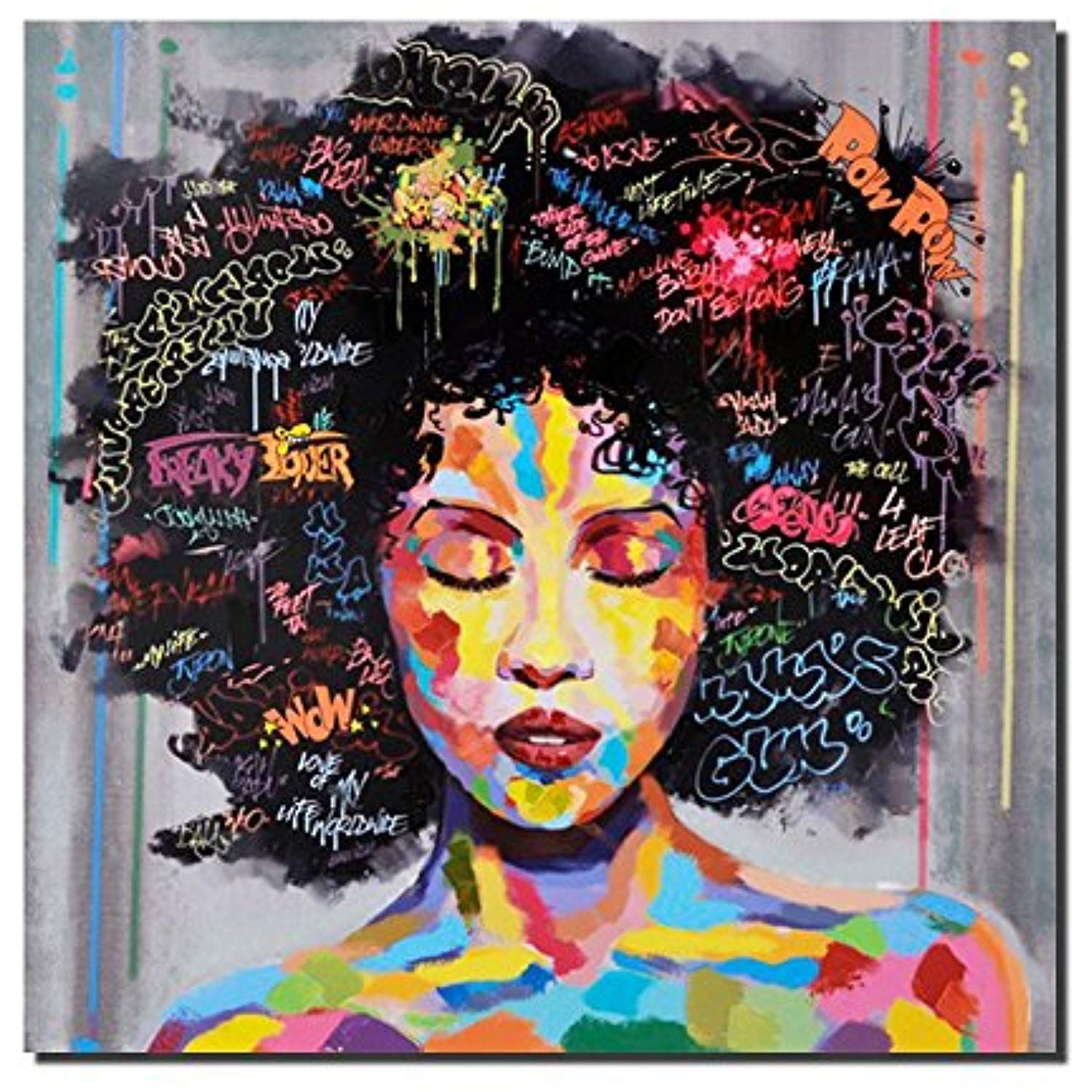 90 by 60cm Black Queen painting Original canvas art Black women painting 26 by 35