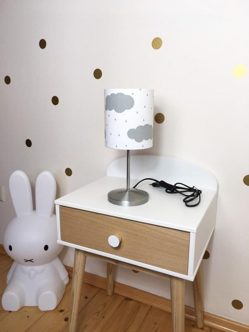 Table Lamp Nursery Clouds And Raindrops Bedside Lamp Grey Bedside Lamps Grey Beautiful Table Lamp Childrens Lamps