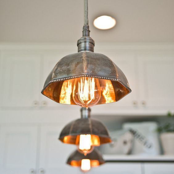 I totally love these vintage pendant lamps Kitchen swag indeed