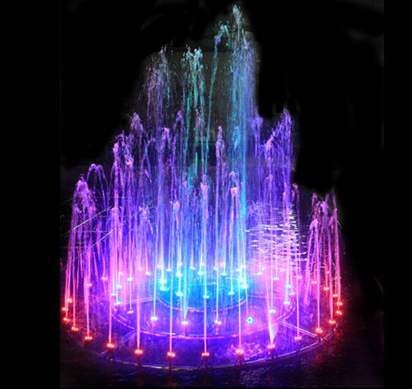 Color Dancing Water Fountains Water Park Music Fountain