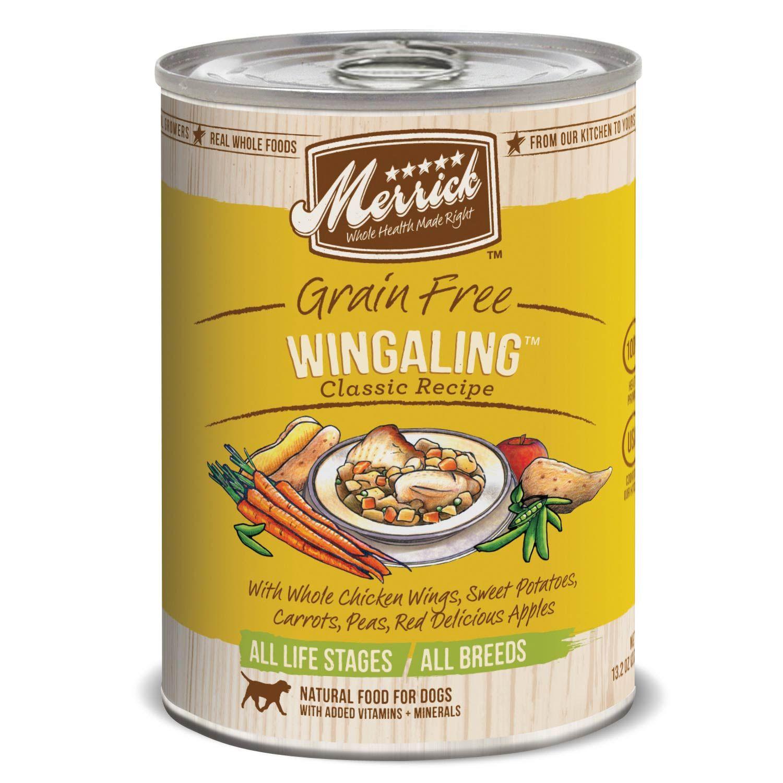 Merrick classic grain free wingaling canned dog food dog