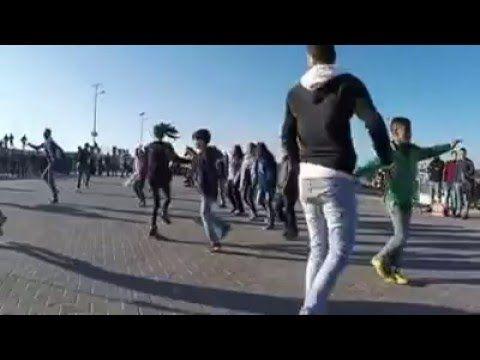 فلاش موب غزة Gaza Flash Mob Youtube Music Enjoyment