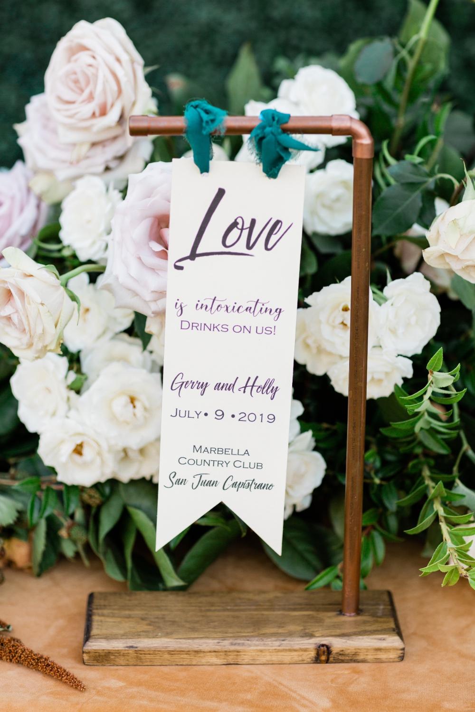 Emerald Green And Gold Romantic Garden Wedding Ideas Romantic Garden Wedding Wedding Signs Simple Elegant Wedding