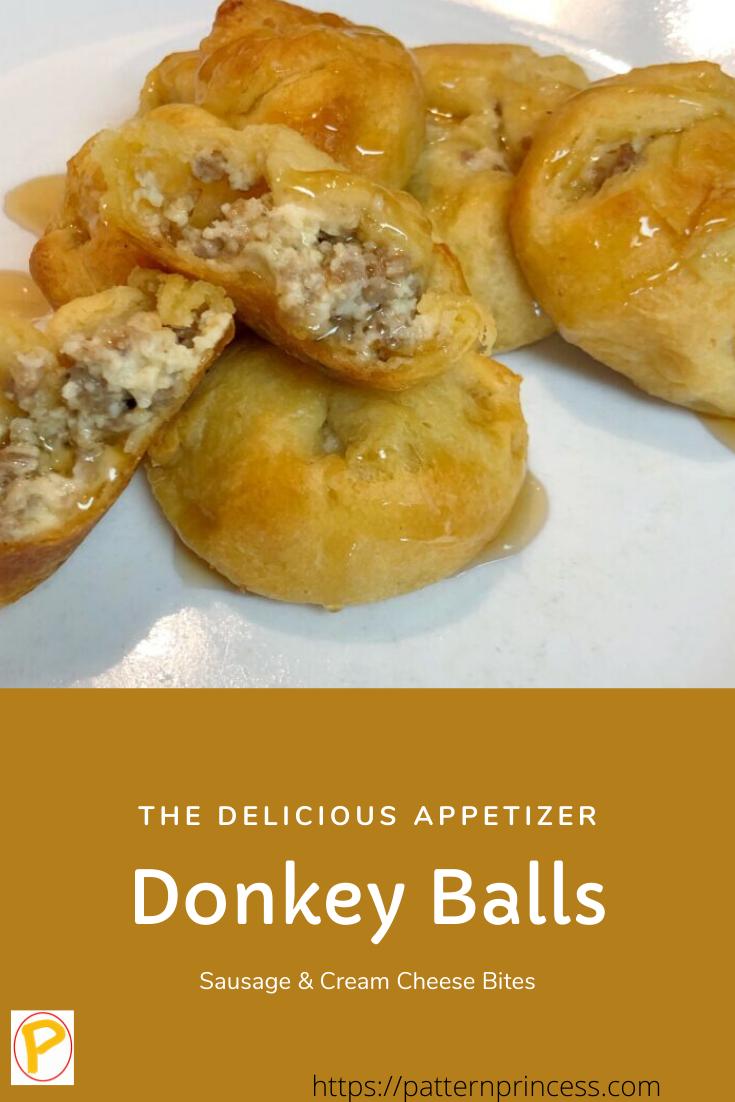 "Sausage & Cream Cheese Bites ""Donkey Balls"" - Pattern Princess"