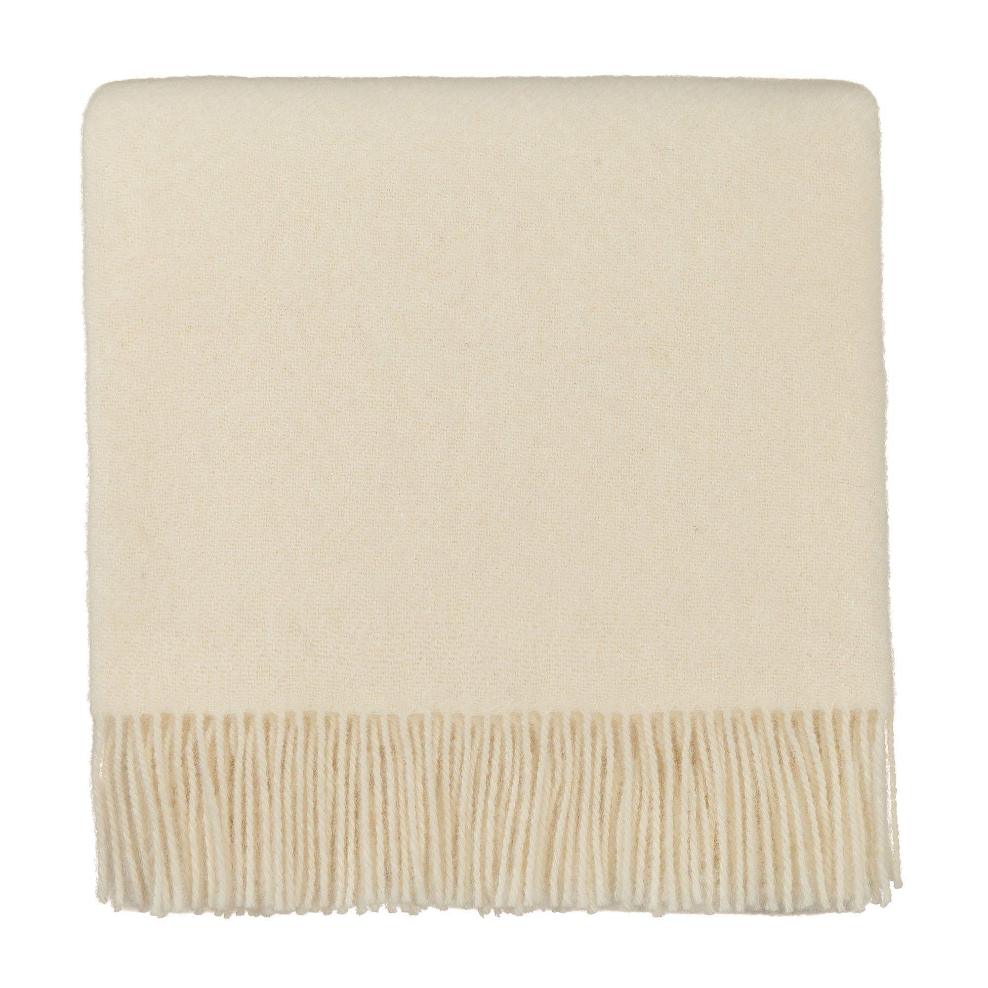Wolldecke Miramar Eierschale 130x190 Cm Wolldecke Deckchen