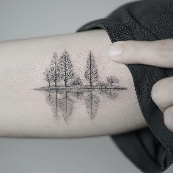 A Quiet Lake In Winter Tatoo Pinterest Tatuajes Ideas De