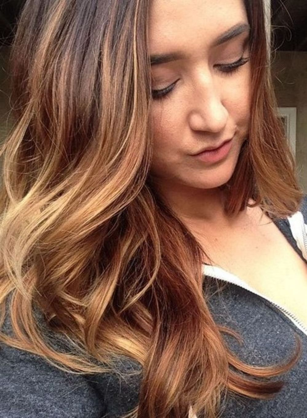 looks with caramel highlights on brown and dark brown hair