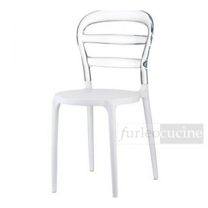 Elegant sedie fast design minimalista trasparenti metacrilato colorate with sedie trasparenti - Sedia trasparente ikea ...