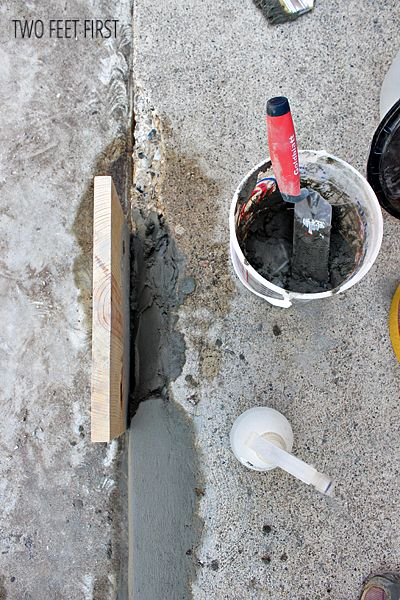 How to fix chipped concrete steps house stuff - Resurfacing exterior concrete stairs ...