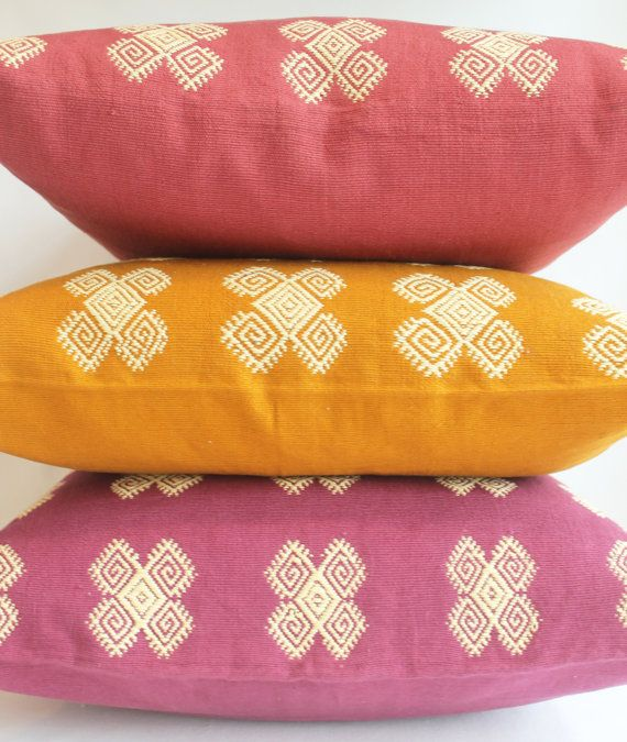 Handwoven Pillow Cover from Chiapas. Decorative by AlegriaHome