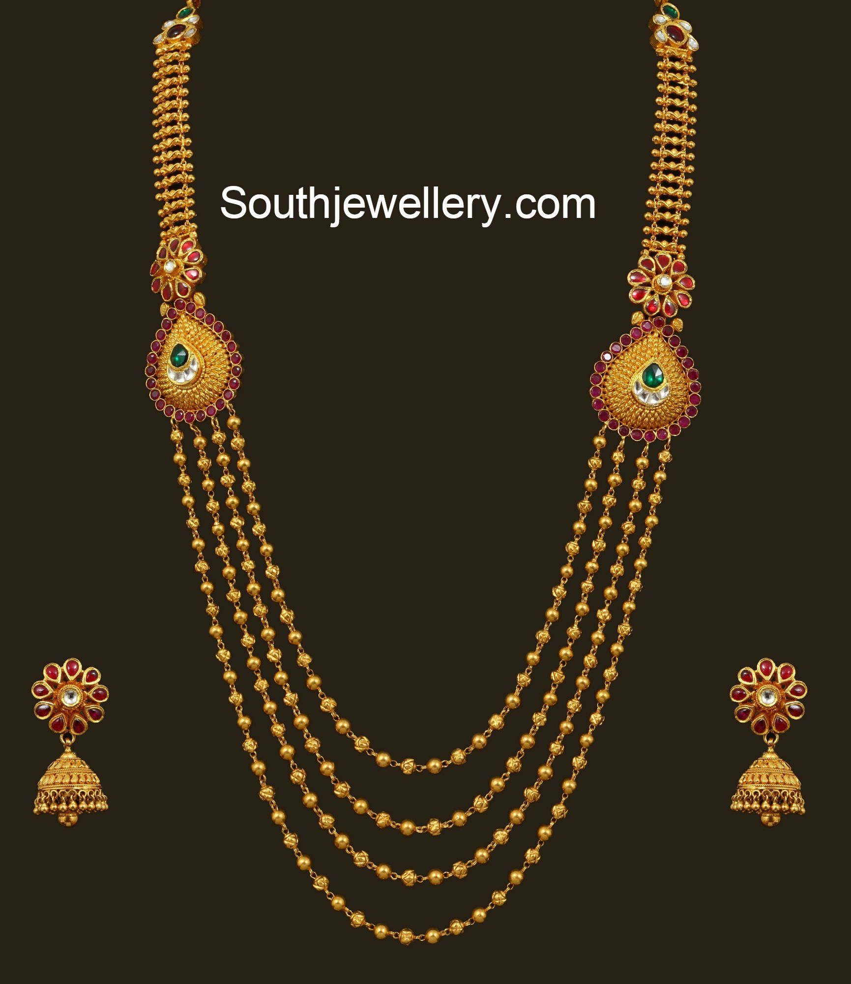 Latest gold necklace designs in grams pachi necklace latest jewellery - Gundla Mala Latest Jewelry Designs Page 4 Of 16 Jewellery Designs