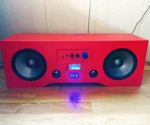 Diy Bluetooth Boombox Upgraded Diy Bluetooth Speaker Bluetooth Speakers Diy Boombox