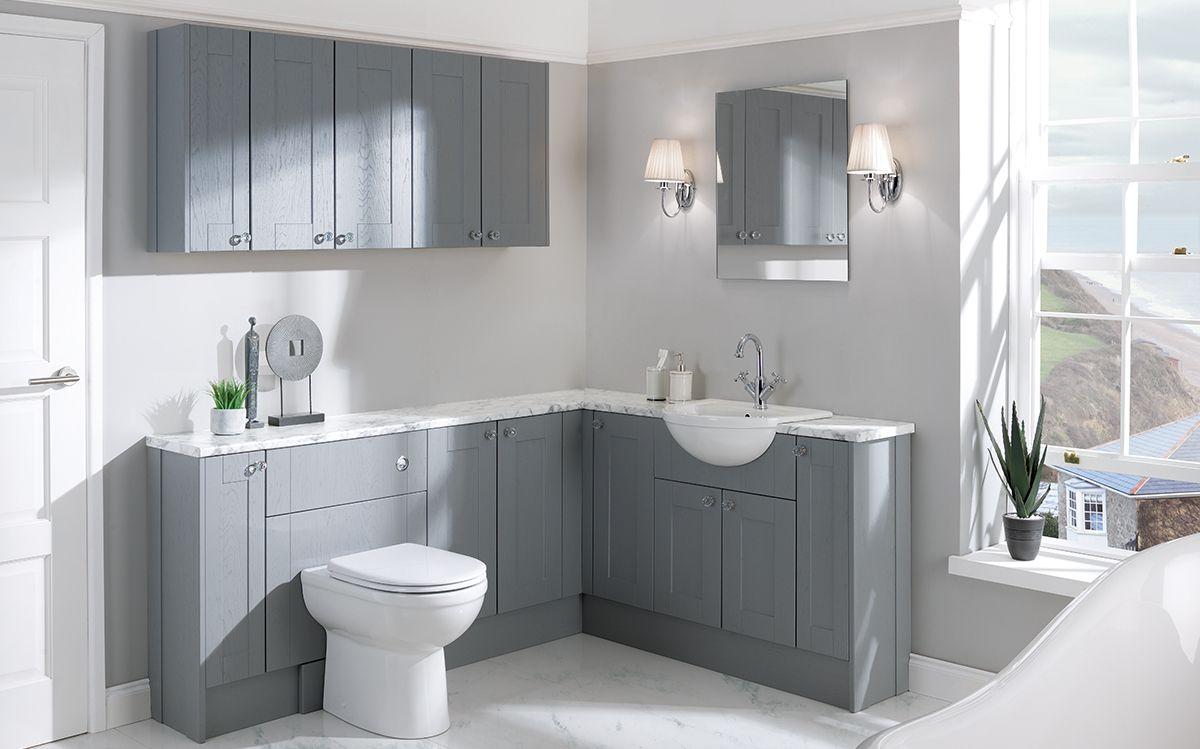Chiltern Dusk Grey Calypso Bathroom Furniture Fitted