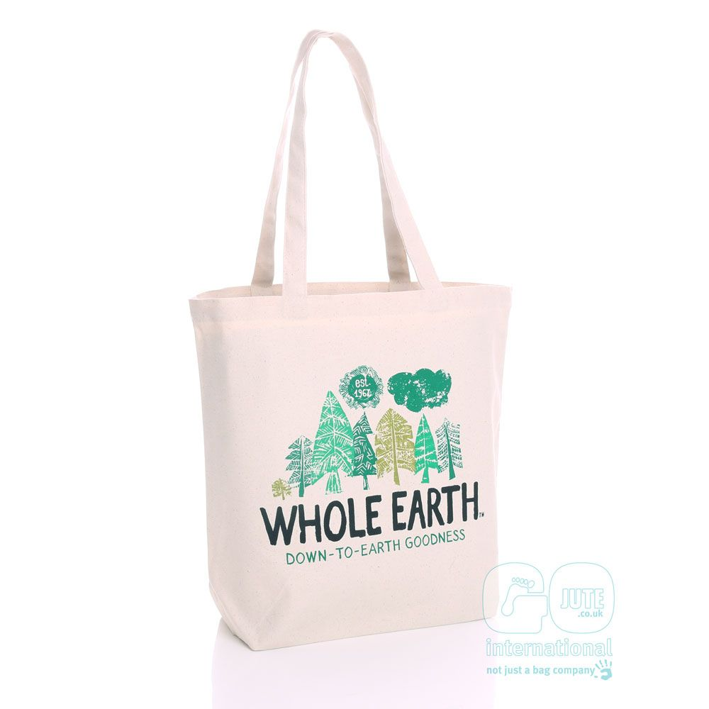 Our Cotton Canvas Bags Were The Perfect Base For Whole Earth