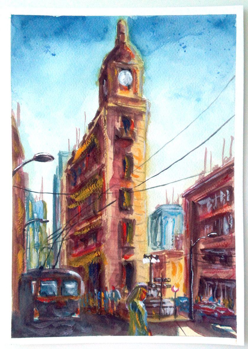 Valparaíso. Watercolor.