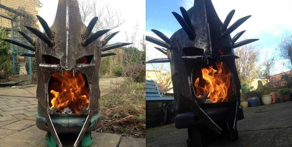 Featured Image for A fire pit that looks like the witch-king of Angmar from Lord of the Rings