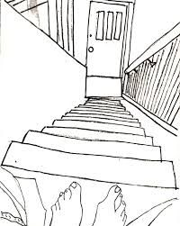 Image result for drawing of stairs going down