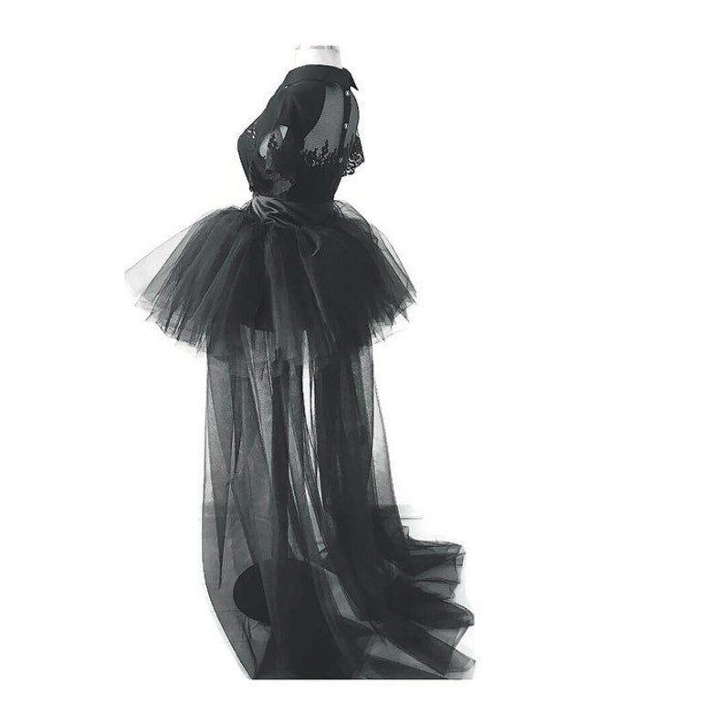 Detachable tulle skirt wedding skirt tulle gown train